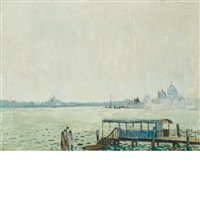 imbarcadero a venezia by adriano spilimbergo