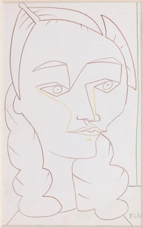 portrait de cécile miguel by françoise gilot