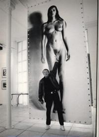 portrait of helmut newton: reach for the stars, monte carlo 1995 by silas shabelewska