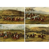 leaming grand steeplechase (+ 3 others; 4 works) by francis calcraft turner