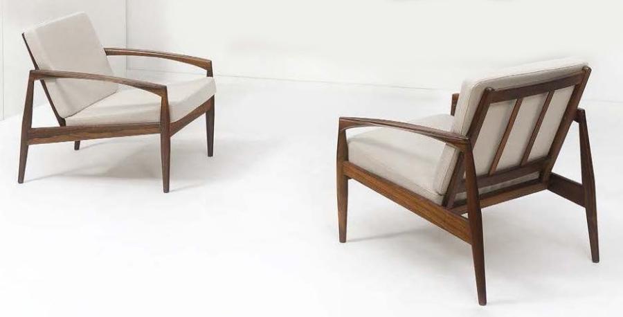 Paire de fauteuils modèle 121-Paper Knife Serie set of 2 by Kai ...