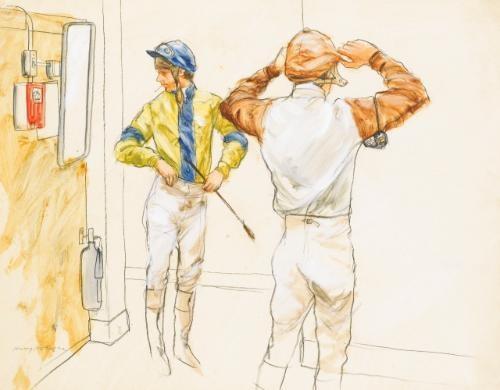 jockeys dressing cheltenham by henry koehler