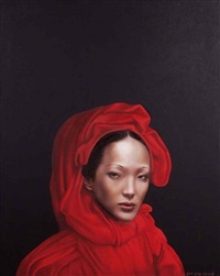 紅衣女子 (woman in red) by liu yi