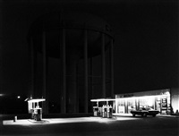 petit's mobil gas station, cherry hill, nj by george tice