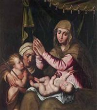 madonna con il bambino, sant'elisabetta e san giovannino by scipione pulzone