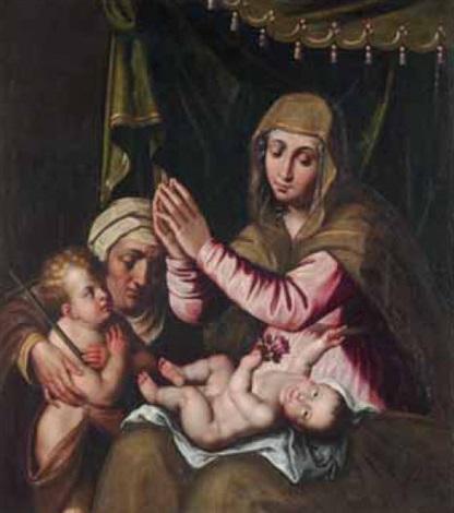 madonna con il bambino santelisabetta e san giovannino by scipione pulzone