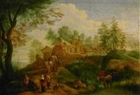 paysage animé by jan frans van bredael the elder