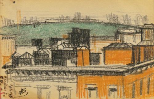 rooftops harlem by oscar florianus bluemner