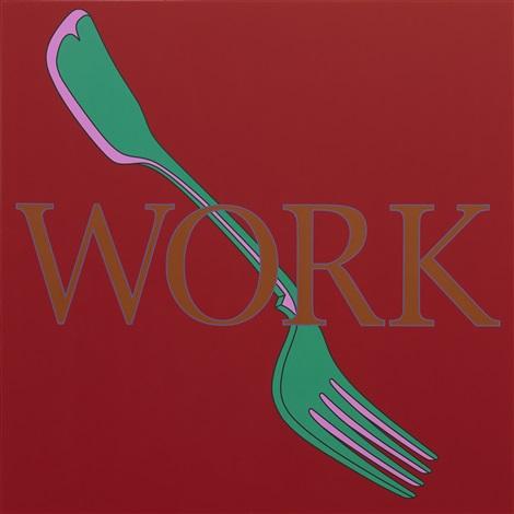 untitled (workfork) by michael craig-martin