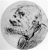 grotesque heads of old men