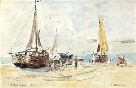 port scene by eugène boudin