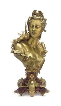 bust entitled l'oiseau bleu by emile herbert
