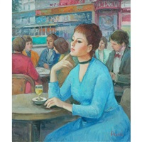 girl at the cafe by madeleine avril