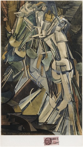 nude descending a staircase no2 by marcel duchamp