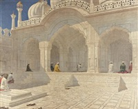 pearl mosque at delhi by vasili vasilievich vereshchagin