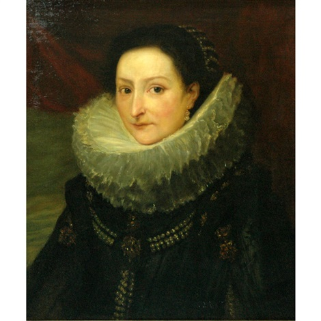 portrait of a genoese lady by sir anthony van dyck