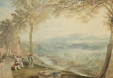 kirkby lonsdale churchyard by joseph mallord william turner
