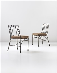 side chairs (pair) by diego giacometti