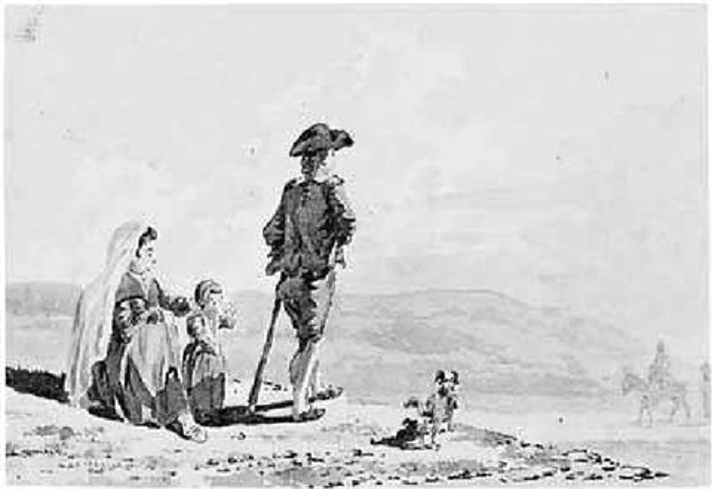 landscape with spanish peasants by david alphonse de sandoz rollin