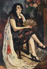 femme au châle by marcel françois leprin