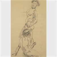two nudes by oskar kokoschka
