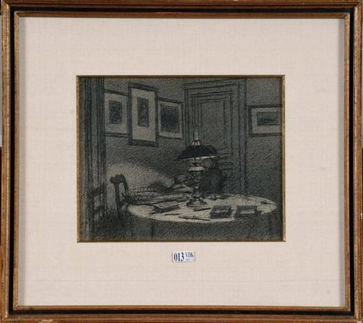 intérieur sous la lampe by xavier mellery