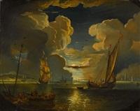le départ des navires au clair de lune by pieter mulier the younger