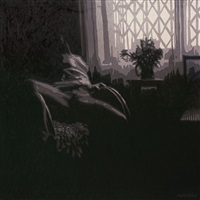 the naked with the vase in front of the window by mustafa karyagdi