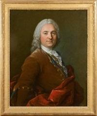 portrait de jacques de chassaigne, receveur des impôts à gisors by louis tocqué