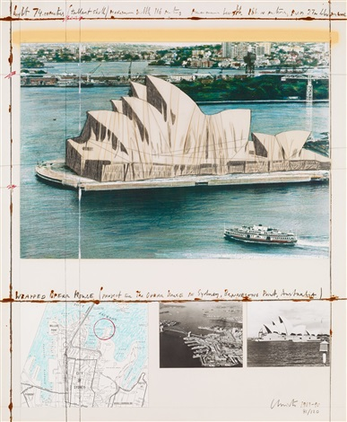 wrapped opera house project for the opera house in sydney bennelong australia by christo and jeanne claude