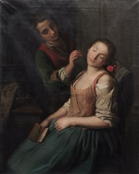tender awakening by pietro antonio rotari