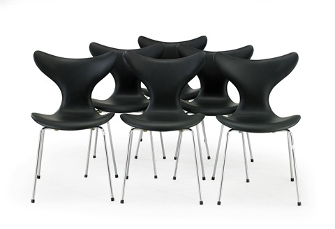 liljan eller måsen stolar (set of 6) by arne jacobsen