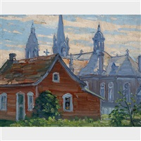 church at baie st. paul by frederick william hutchison