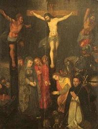 la crucifixion by michiel coxie the elder