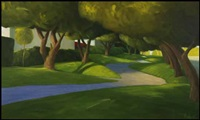 palm springs sidewalk ii by ross penhall
