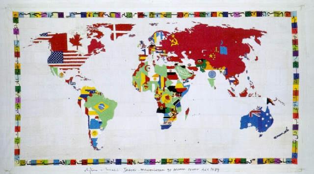Cartina Del Mondo On Line.Mappa Del Mondo By Alighiero Boetti On Artnet