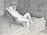 study for the mertz nude by john brack