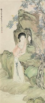 仕女 (figure) by jiang xun