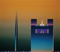 abstract composition (diptych) by ismail ates