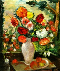 a vase of flowers by isidor asheim