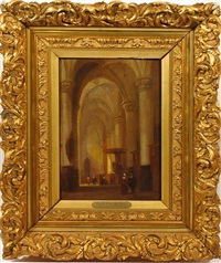 church interior by jan baptiste tetar van elven