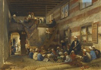 in the classroom by konstantin egorovich makovsky