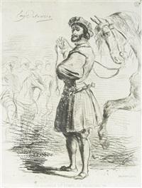 un seigneur du temps de francois 1er by eugène delacroix