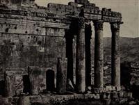 views of baalbek, lebanon (6 works) by maxime du camp