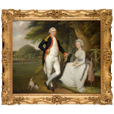 double portrait of lieutenant colonel william sydenham and his wife amelia prime by robert home