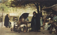 a bruges market place by flora macdonald reid
