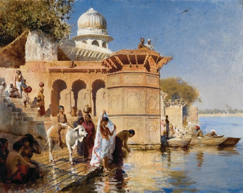 along the gháts mathura by edwin lord weeks