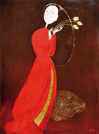 jeune fille au lotus by dinh quan