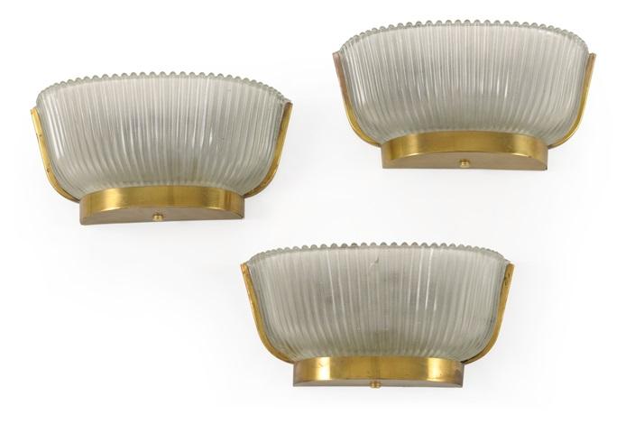 Tre lampade da muro by seguso vetri darte co. on artnet