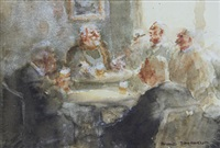 saloon bar (+ 2 others; 3 works) by roland batchelor